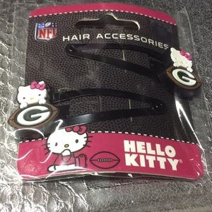 Green Bay Packers Hello Kitty Hair Pins